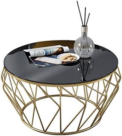 Goedkoop LAMXF Zijtafel Bank Geometrische salontafel van metaal, woon- / showroom met balkon, bijzettafel van gehard glas  Xmt4oOw