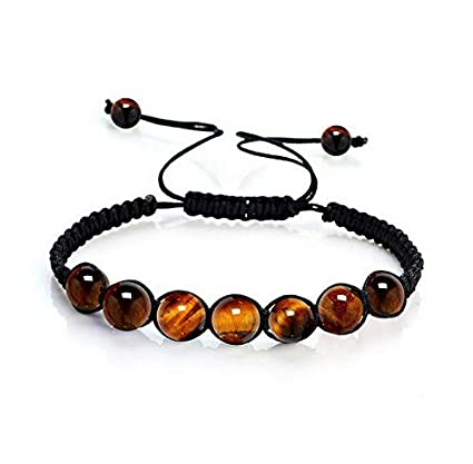 af3ca14f9832 Amazon.com  Hebel 7 Chakra Healing Balance Beaded Bracelets Braided Stone  Yoga Reiki Prayer Bangle