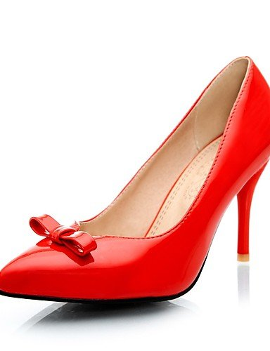GGX/ Damenschuhe-High Heels-Lässig-Kunstleder-Stöckelabsatz-Absätze / Spitzschuh-Schwarz / Blau / Rosa / Rot red-us11 / eu43 / uk9 / cn44