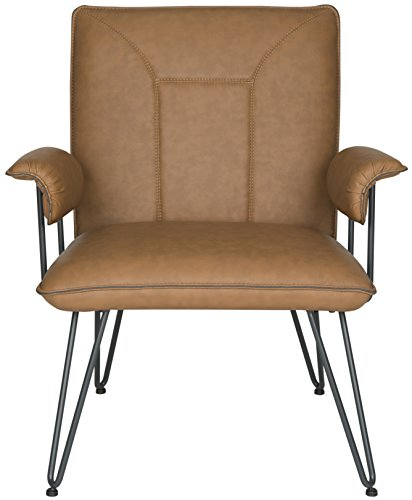 Safavieh Home Collection Johannes Camel Arm Chair, Multicolored by Safavieh