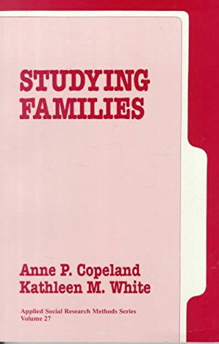 [(Studying Families)] [Edited by Anne P. Copeland ] published on (July, 1991)
