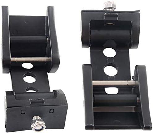 AL4X4 Latch Locking Hood Catch Kit Compatible with Wrangler JK JKU 2007-2017 Black Stainless Steel 1 Pair