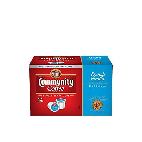 Community Coffee Single-Serve Cups, French Vanilla, 72 Count Box