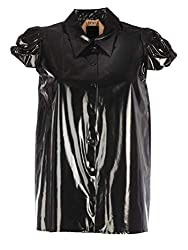 N??21 Women S G05359089000 Black Polyurethane Shirt