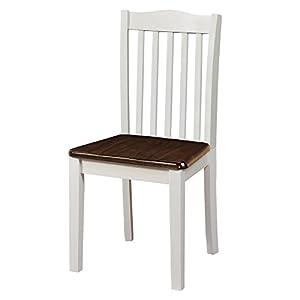 Dorel Living Shiloh Dining Chairs (2 Pack), Dark Walnut / White