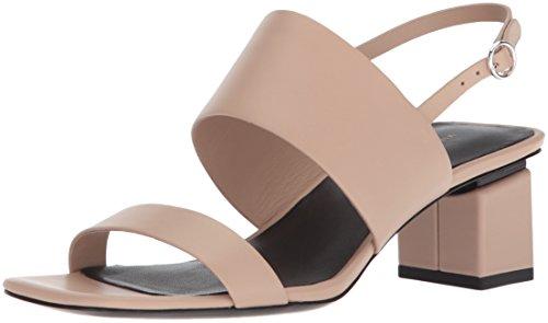 (Via Spiga Women's Forte Block Heel Sandal, Sand Leather, 6 M US)