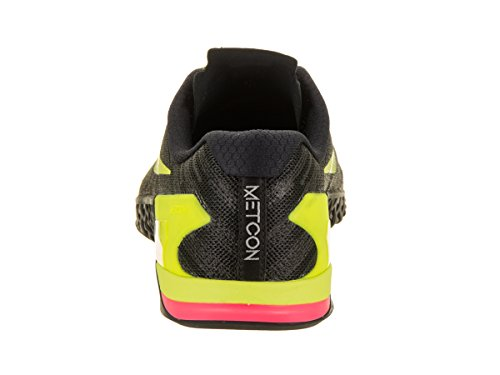 Nike Menns Metcon 3 Trening Sko Svart / Volt / Hyper Crimson / Varm Punsj
