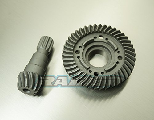 Raidenracing Front Steel Spiral Cut Differential Diff Ring Pinion Gear Replace 7777X for Traxxas X-Maxx XMAXX