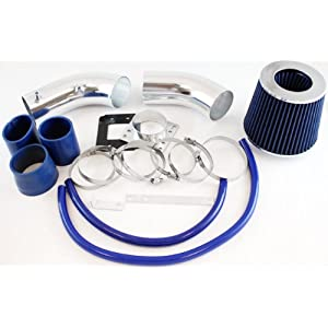 "Velocity Concepts 3"" Blue Cold Air Intake Induction Kit + Filter For 88-95 Toyota 4Runner/Pickup/93-94 T100 3.0L V6"