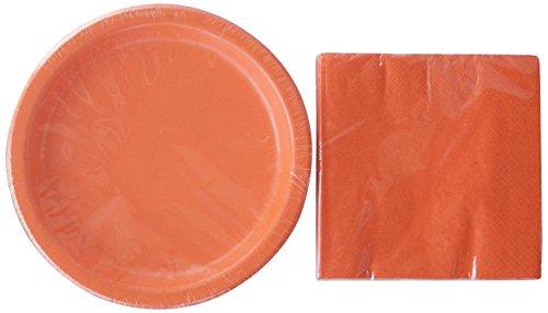 Orange Birthday Party Supply Kit - 24 Napkins and 20 Plates -