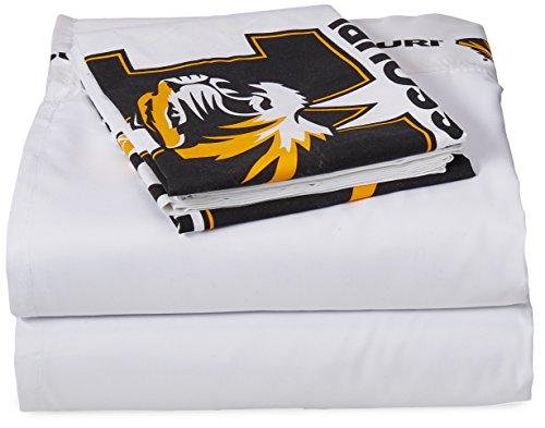 NCAA Missouri Tigers Micro Fiber Sheet Set, Twin