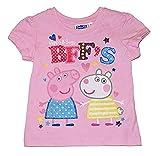 Peppa Pig Toddler Little Girls BFF's Tee Shirt (2T) Pink