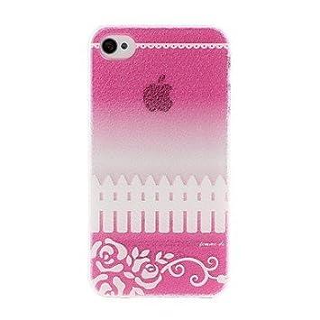 Gongxi Litchi Texture Blumen Und Zaun Muster Amazon De Elektronik