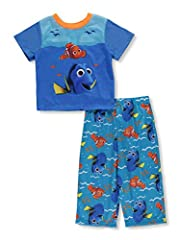 Cozy up in this extra comfy finding dory pajama set! the bright colors and fun graphics are sure to be a new bedtime favorite! perfect for sleeping and lounging
