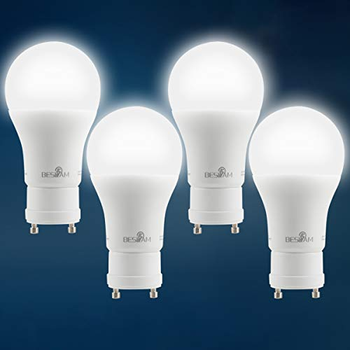 GU24 Base LED Bulbs,A19 Dimmable LED Light Bulbs,7W (40W Incandescent Bulbs Equivalent),520lm,5000K Daylight White,Home/Indoor Lighting,UL Listed and Energy Star,Pack of 4 -