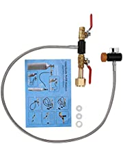 """Soda CO2 Refill Adapter, G1/2 CO2 Cylinder Refill Adapter with ON-Off Control Valve for Filling Soda Tank CGA-320(36"""" with Gauge)"""