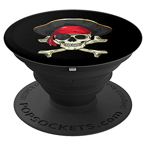 Skull & Crossbones Pirate Halloween Costume Buccaneer Gifts - PopSockets Grip and Stand for Phones and Tablets ()