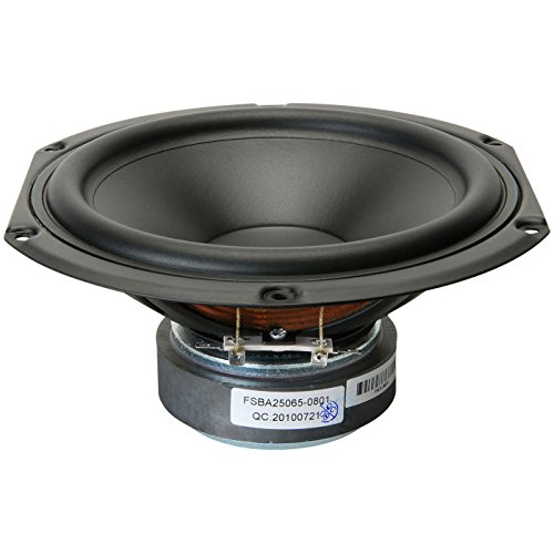 "Peerless by Tymphany SDS-160F25PR01-08 6-1/2"" Paper Cone Woofer Speaker"