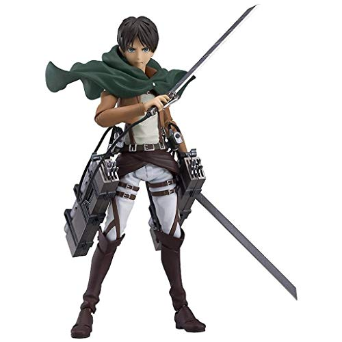 LYQZ Attack On Titan: Eren Yeager Figma Action Figure Equipped with Weapons - 15 cm High