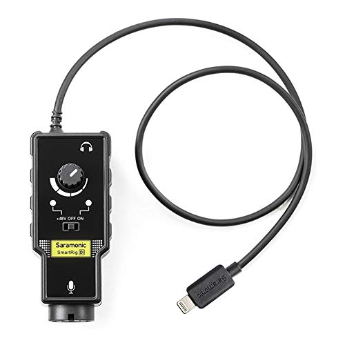 Saramonic XLR Microphone & 6.35mm Guitar Audio Adapter with Lightning Output Connector Professional Video Microphone (SMARTRIGDI)
