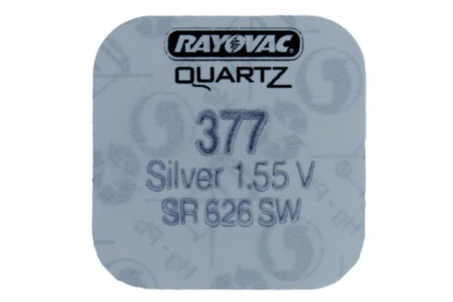 Battery 377 SR626SW for electronics / watches box of 100 by Renata