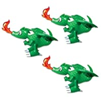 Fire Breathing 30 Inch (GREEN) Dragon Inflatable 3 pack