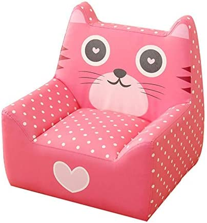 ソファー 子供子供ソファソファチェアアームレストゲームルームの家具は、リビングルームのベッドルームの研究や子供のための他の贈り物に配置することができます モダンなソファ (Color : Pink, Size : 65x55x64cm)