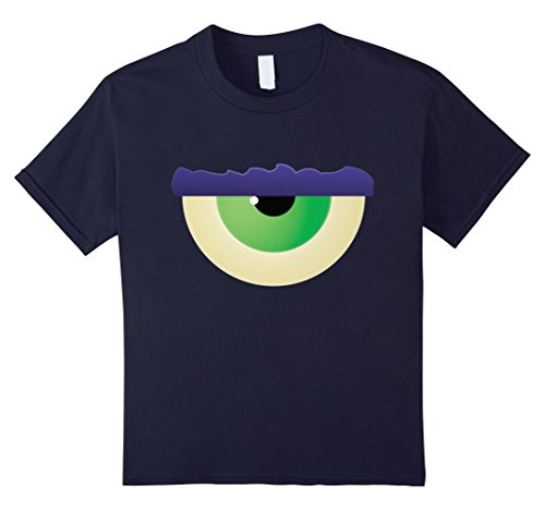 Cyclops Costume T Shirt (Kids Kids Halloween Costume Monster Eye Cyclops T-shirt 10 Navy)