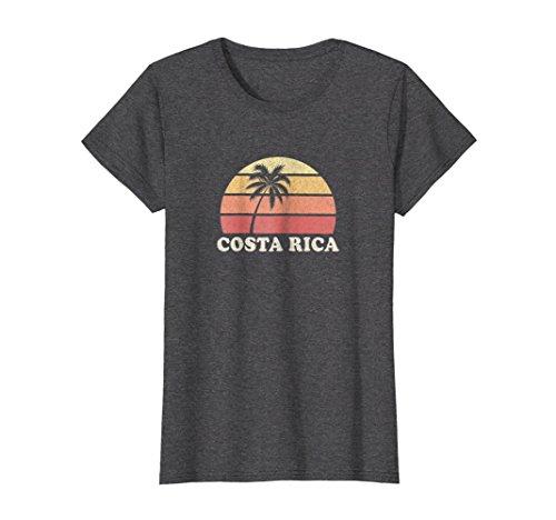 Womens Costa Rica Vintage T Shirt Retro 70s Throwback Tee Design Medium Dark Heather