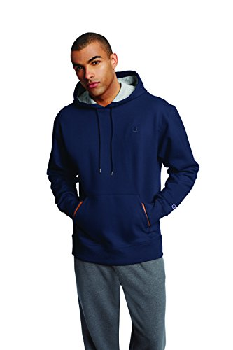 Champion Men's Powerblend Pullover Hoodie, Navy, Medium