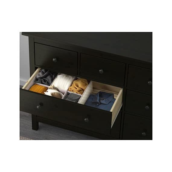 Ikea 8-drawer dresser, black-brown 2028.52620.230 - - Made of solid wood, which is a durable and warm natural material. - A wide chest of drawers gives you plenty of storage space as well as room for lamps or other items you want to display on top. - Smooth running drawers with pull-out stop. - dressers-bedroom-furniture, bedroom-furniture, bedroom - 41PaOP%2BskZL. SS570  -