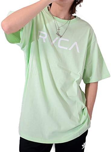 Tシャツ 半袖 BIG RVCA SS ビッグ ルカ ロゴプリント カットソー トップス 白 黒 ペア リンクコーデ BA041-204