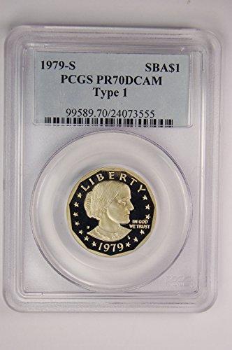 1979 S Susan B Anthony Susan B Anthony Type 1 Classic Label $1 PR-70 PCGS DCAM
