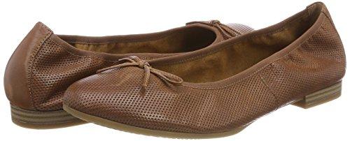 22116 Marrón Zapatos Para De Tamaris Tacón Struc cognac Mujer SPwqPdn