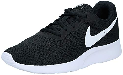 Nike Womens Tanjun Running Sneaker Black/White 8