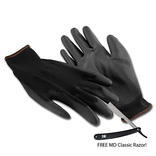 MD Elite Barber Gloves - 4 Pairs (L) - Touch Screen Razor