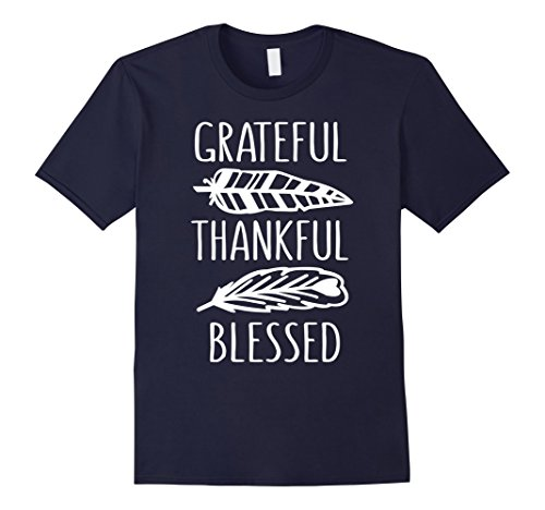 Mens Grateful Thankful Blessed Funny Thanksgiving T-Shirt 2XL (Thankful Grateful Blessed)