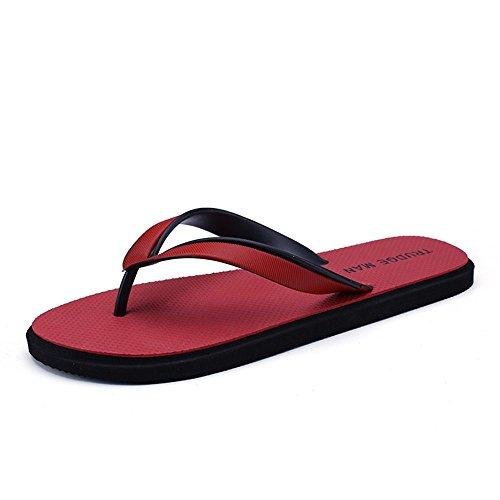 classici Color da taglia EU fino Sandali 40 Sandali pantofola uomo infradito Uomo Dimensione Xujw 10MUS 2018 Rosso alla shoes Rosso infradito da xwat7q70A6