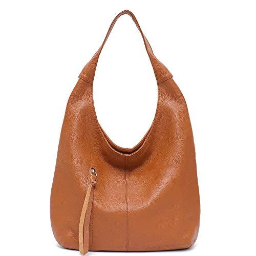 (Women Hobo Bags STEPHIECATH Fashion Luxury Cow Leather Soft Tote Shoulder Bag (TANNN))
