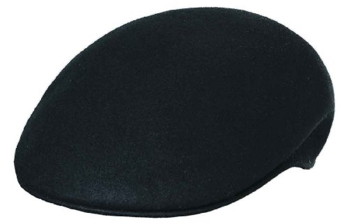 Scala Crushable Wool (Scala Classico Men's Crushable Felt Ascot Hat,Black,XL)