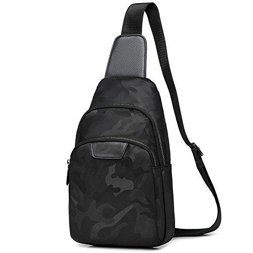 Korean Male De Hombres Version Backpack Oxford Sports Small Mini Bolsas Spinning Ocio Nylon Zq Messenger Hombro Bolso Canvas Of The Bag wSqSXY