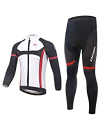 Cycling Sling Long Sleeve Suit Bicycle Clothing, Moisture Wicking and Quick-Drying Pants,Mens Cycling Clothing Set