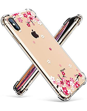 0311da6317 GVIEWIN Dream Flower Series for iPhone Xs Max Case, Clear Floral Pattern  Chic Design Soft
