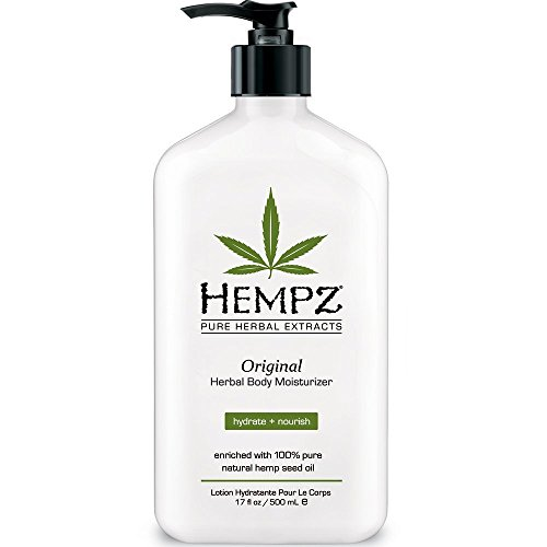 HEMPZ Pure Herbal Extract:Original Herbal body Moisturizer, hydrate + nourish,Enriched with 100% Natural Hemp Seed Oil,Herbal Body Moisturizer,17 fl oz(500ml)