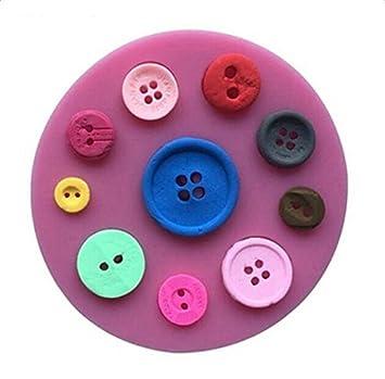 Hosaire Molde de Silicona de Pastel Molde de Fondant DIY Decoración de Repostería Pastel Cookie (Modelado de botones): Amazon.es: Hogar