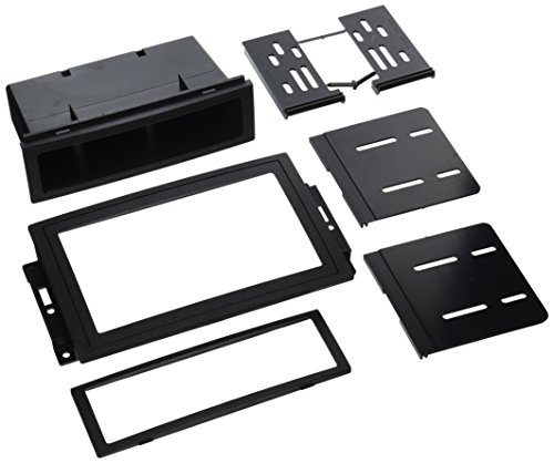 (SCOSCHE CR1289B Single or Double DIN Car Stereo in-Dash Install Kit Compatible with 2005-Up Chrysler 300C, Dodge Magnum/Charger, Durango, RAM/Mega RAM, Jeep Grand Cherokee and Commander Vehicles)