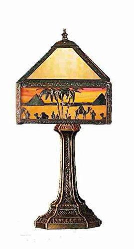 Meyda tiffany 28344 camel mission accent lamp 19 5