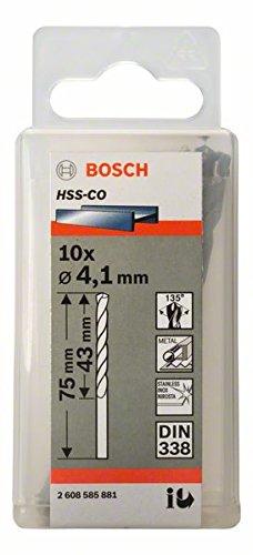 Bosch 2608585881 Metal Drill bits HSS-Co, DIN 338, Bronze, 4.1 x 43 x 75 mm