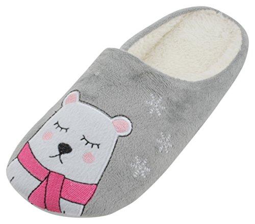 Pantofole Slumberzzz Slumberzzz Grey Donna Pantofole r5rndq