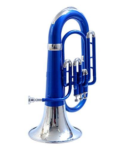 MOONFLAG Euphonium Blue + Nickel Bb 3 valve by NASIR ALI (Image #3)